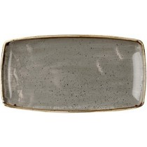 Churchill Stonecast Peppercorn Grey Oblong Plate 35 x 18.5cm
