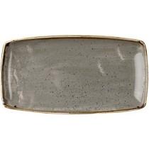 Churchill Stonecast Peppercorn Grey Oblong Plate 29.5 x 15cm