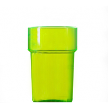 Econ Neon Green Rigid Reusable Pint Glasses CE 20oz / 568ml