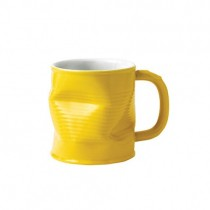 Yellow Squashed Tin Can Mug 22cl 7.75oz