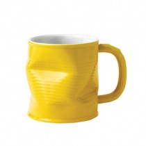 Yellow Squashed Tin Can Mug 32cl 11.75oz