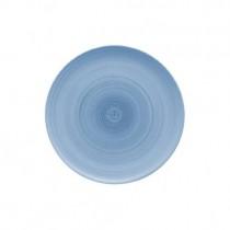 Bauscher Modern Rustic Blue Flat Coupe Plate 26cm