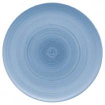 Bauscher Modern Rustic Blue Flat Coupe Plate 32cm