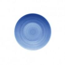 Bauscher Modern Rustic Blue Deep Coupe Plate 18cm
