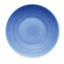 Bauscher Modern Rustic Blue Deep Coupe Plate 30cm