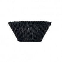 Bauscher Emotion Round Black Plastic Baskets 12 x 25cm