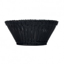 Bauscher Emotion Round Black Plastic Baskets 9 x 37cm