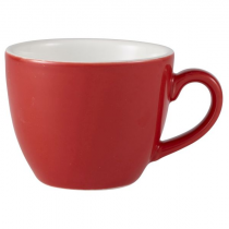 Bowl Shaped Cup Red 3oz