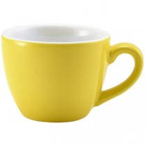 Bowl Shaped Cup Yellow 9cl 3oz