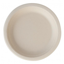 Eco-Fibre Compostable Wheat Round Plates18cm