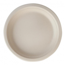 Eco-Fibre Compostable Wheat Round Plates 23cm