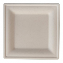 Eco-Fibre Compostable Wheat Square Plates 20cm