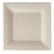 Eco-Fibre Compostable Wheat Square Plates 26cm