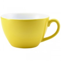 Bowl Shaped Cup Yellow 34cl 12oz