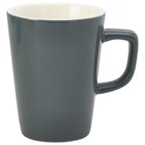 Handled Latte Mug Grey 12oz
