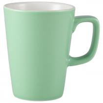 Handled Latte Mug Green 12oz
