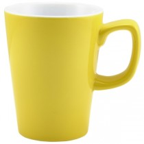 Handled Latte Mug Yellow 12oz