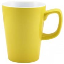 Handled Latte Mug Yellow 12oz