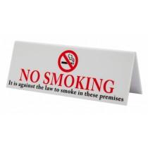 Plastic No Smoking Table Sign