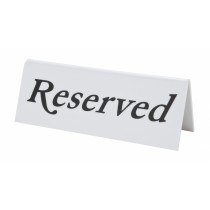 Plastic Reserved Table Sign