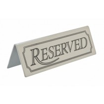 Stainless Steel Reserved Sign