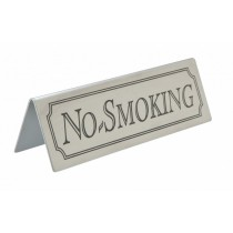 Stainless Steel No Smoking Table Sign