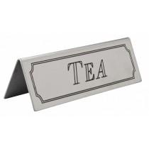 Stainless Steel Tea Sign