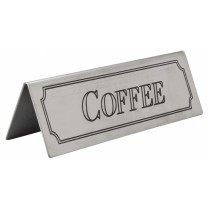Stainless Steel Coffee Sign
