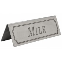Stainless Steel Milk Sign