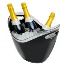 Plastic Wine/Champagne Cooler Black 8 Litre