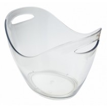 Plastic Champagne / Wine Bucket Clear 8Ltr