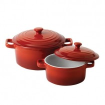 Mininova Casserole with Lid Red 13cm