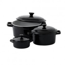 Mininova Casserole with Lid Black 15cm