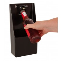 Bottle Opener & Catcher Black