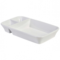 Royal Genware Rectangular Divided Dish 26 x 15 x 4cm