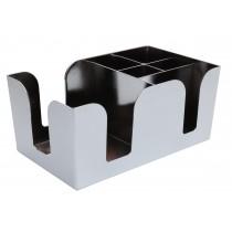 Bar Caddy Chrome 5 Compartments