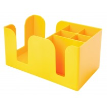 Bar Caddy Yellow 6 Compartments