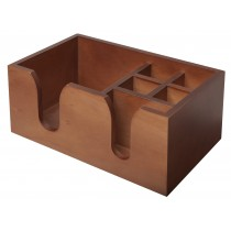 Bar Caddy Wooden 6 Compartments