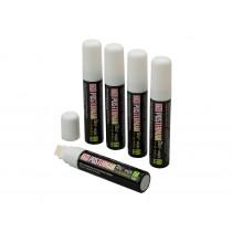 Posterman Liquid Chalk Wet Wipe Markers White 15mm