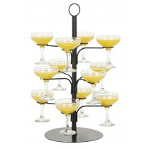 Cocktail Glass Tree Black