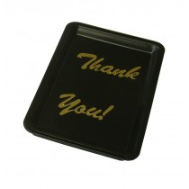 Black Plastic Thank You Tip Tray