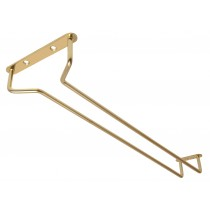 Glass Rack Brass Finish 16inch