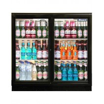 Blizzard BAR2SL Double Sliding Door Bottle Cooler Black
