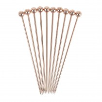 Copper Plated Ball Garnish Pick