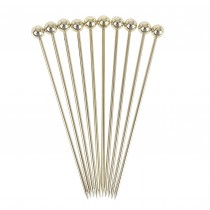 Gold Plated Ball Garnish Pick