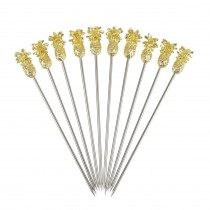 Gold Plated Pineapple Cocktail Pick