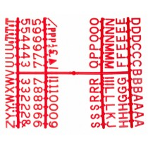 Design-A-Sign Peg Board Letters Red 0.5inch