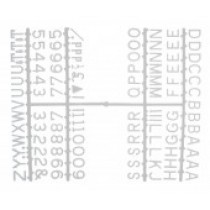 Design-A-Sign Peg Board Letters White 0.5inch