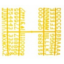 Design-A-Sign Peg Board Letters Yellow 0.5inch