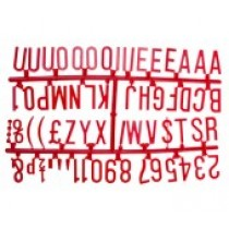 Design-A-Sign Peg Board Letters Red 1.25inch
